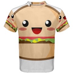 Kawaii Burger Men s Cotton Tees