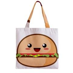 Kawaii Burger Zipper Grocery Tote Bags