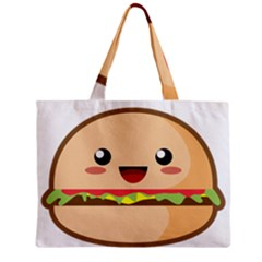 Kawaii Burger Zipper Tiny Tote Bags