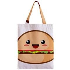 Kawaii Burger Zipper Classic Tote Bags