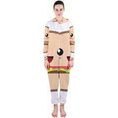 Kawaii Burger Hooded Jumpsuit (Ladies)