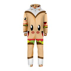 Kawaii Burger Hooded Jumpsuit (Kids)