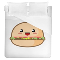 Kawaii Burger Duvet Cover Single Side (full/queen Size)