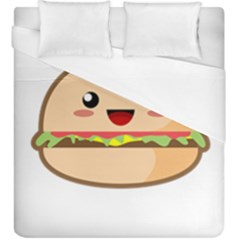 Kawaii Burger Duvet Cover Single Side (kingsize)