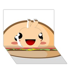 Kawaii Burger Apple 3D Greeting Card (7x5)