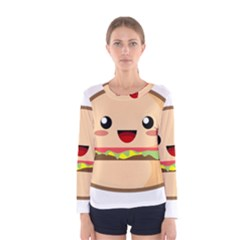 Kawaii Burger Women s Long Sleeve T-shirts