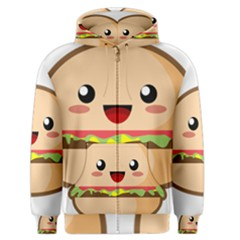 Kawaii Burger Men s Zipper Hoodies