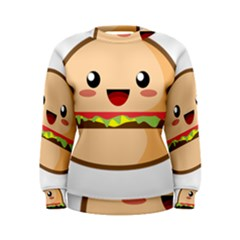 Kawaii Burger Women s Sweatshirts