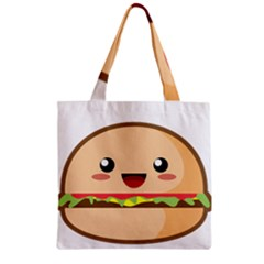 Kawaii Burger Zipper Grocery Tote Bags