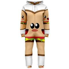Kawaii Burger Hooded Jumpsuit (Ladies)