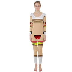 Kawaii Burger Long Sleeve Catsuit