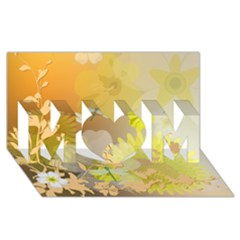 Beautiful Yellow Flowers With Dragonflies Mom 3d Greeting Card (8x4)