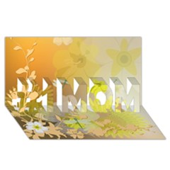 Beautiful Yellow Flowers With Dragonflies #1 Mom 3d Greeting Cards (8x4)