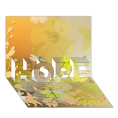 Beautiful Yellow Flowers With Dragonflies HOPE 3D Greeting Card (7x5)