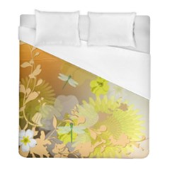 Beautiful Yellow Flowers With Dragonflies Duvet Cover Single Side (twin Size)