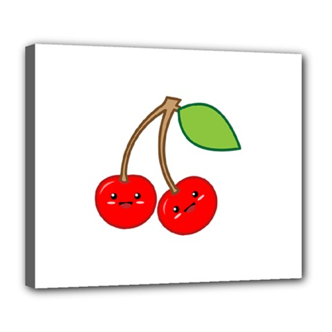 Kawaii Cherry Deluxe Canvas 24  x 20