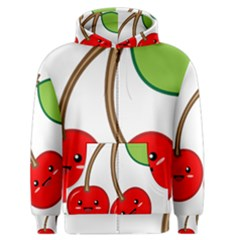 Kawaii Cherry Men s Zipper Hoodies