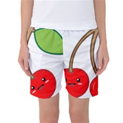 Kawaii Cherry Women s Basketball Shorts