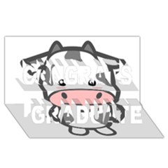 Kawaii Cow Congrats Graduate 3D Greeting Card (8x4)