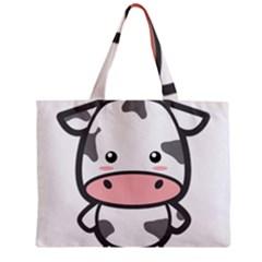 Kawaii Cow Zipper Tiny Tote Bags