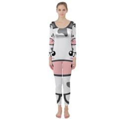 Kawaii Cow Long Sleeve Catsuit