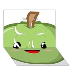 Kawaii Green Apple Clover 3D Greeting Card (7x5)