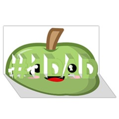 Kawaii Green Apple #1 Dad 3d Greeting Card (8x4)