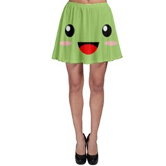 Kawaii Green Apple Skater Skirts