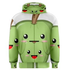 Kawaii Green Apple Men s Zipper Hoodies