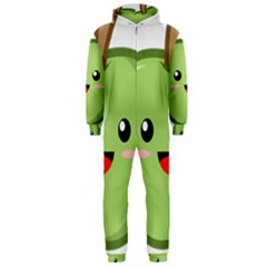 Kawaii Green Apple Hooded Jumpsuit (Men)