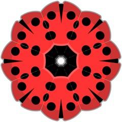 Kawaii Ladybug Hook Handle Umbrellas (Medium)