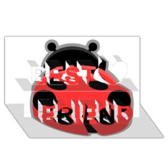 Kawaii Ladybug Best Friends 3D Greeting Card (8x4)