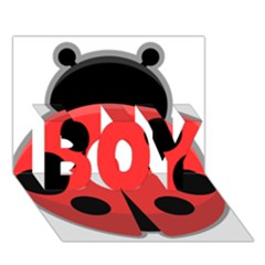 Kawaii Ladybug BOY 3D Greeting Card (7x5)