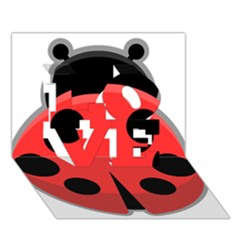 Kawaii Ladybug Love 3d Greeting Card (7x5)