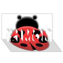 Kawaii Ladybug #1 Mom 3d Greeting Cards (8x4)