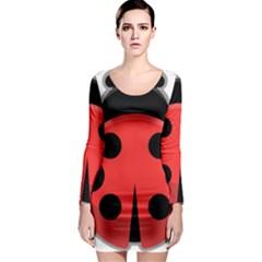 Kawaii Ladybug Long Sleeve Bodycon Dresses