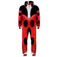 Kawaii Ladybug Hooded Jumpsuit (Men)