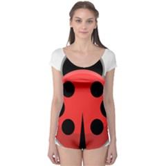 Kawaii Ladybug Short Sleeve Leotard