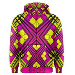 Florescent Pink Yellow Abstract  Men s Zipper Hoodies