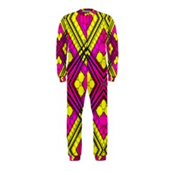 Florescent Pink Yellow Abstract  OnePiece Jumpsuit (Kids)