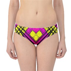 Florescent Pink Yellow Abstract  Hipster Bikini Bottoms