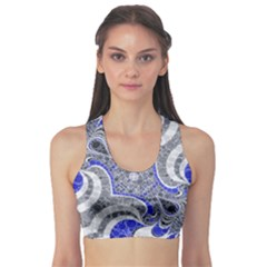 Bright Blue Abstract  Sports Bra