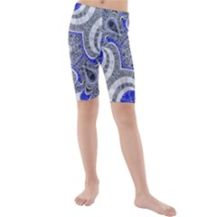 Bright Blue Abstract  Kid s swimwear
