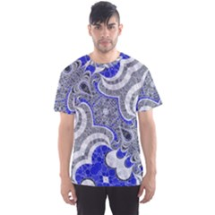 Bright Blue Abstract  Men s Sport Mesh Tees