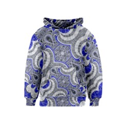 Bright Blue Abstract  Kid s Pullover Hoodies