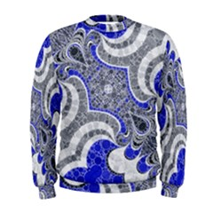 Bright Blue Abstract  Men s Sweatshirts