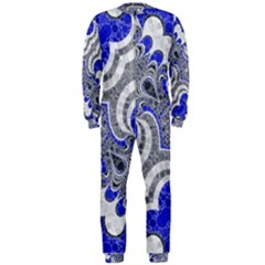 Bright Blue Abstract  OnePiece Jumpsuit (Men)