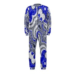 Bright Blue Abstract  Onepiece Jumpsuit (kids)