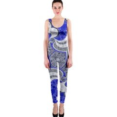 Bright Blue Abstract  Onepiece Catsuits