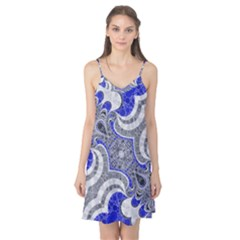 Bright Blue Abstract  Camis Nightgown